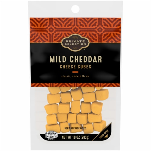 Private Selection® Mild Cheddar Cheese Cubes Perspective: front