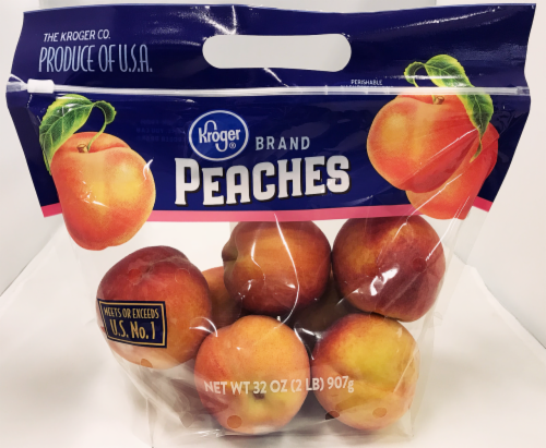 Kroger®  Peaches 2 Pound Bag Perspective: front
