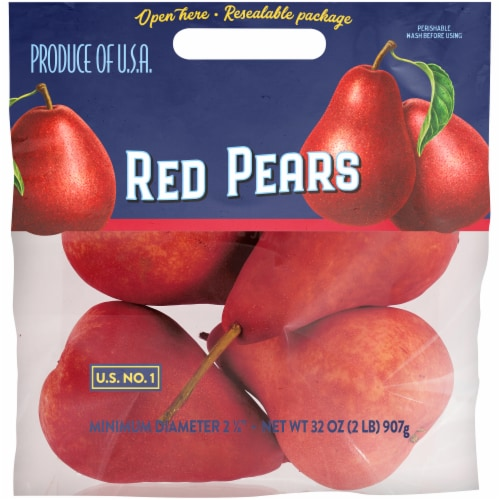 Kroger® Red Pears Pouch Perspective: front