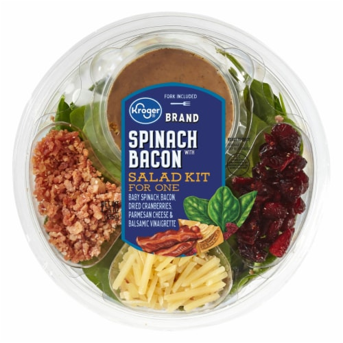Kroger®  Spinach with Bacon Salad Kit for One Perspective: front