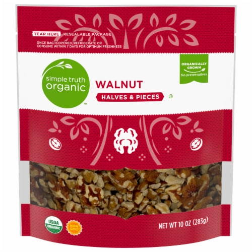 Simple Truth Organic™ Walnut Halves & Pieces Perspective: front