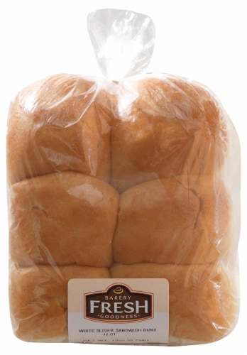 Bakery Fresh White Slider Sandwich Buns Perspective: front