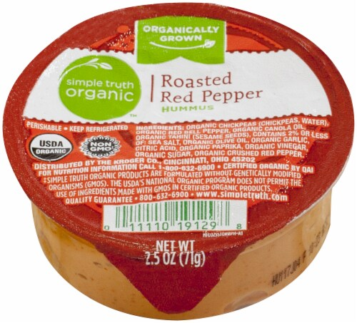 Simple Truth Organic™ Single Roasted Red Pepper Hummus Perspective: front