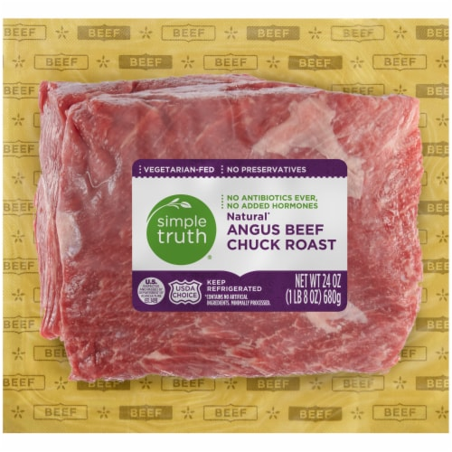 Simple Truth® Natural Angus Beef Chuck Roast Perspective: front