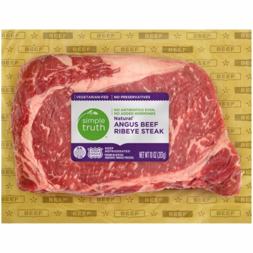 Simple Truth® Natural Angus Beef Ribeye Steak Perspective: front