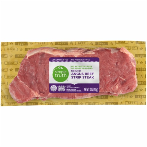 Simple Truth® Natural Angus Beef Strip Steak Perspective: front