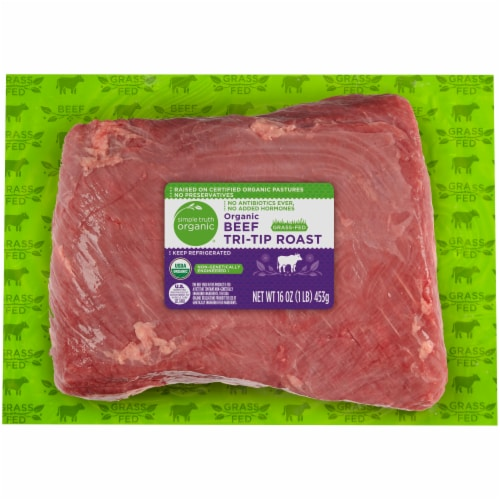Simple Truth Organic® Grass Fed Beef Tri-Tip Roast Perspective: front