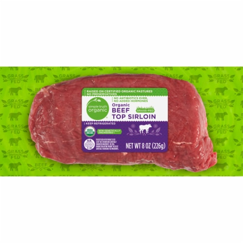 Simple Truth Organic® Grass Fed Beef Top Sirloin Perspective: front