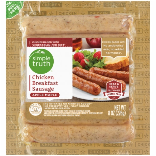 Simple Truth™ Apple Maple Chicken Breakfast Sausage Perspective: front