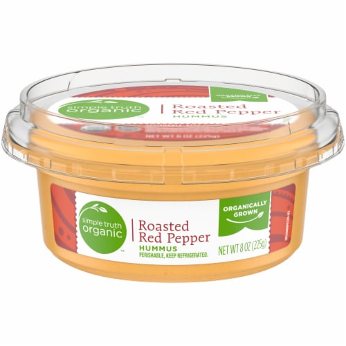 Simple Truth Organic™ Roasted Red Pepper Hummus Perspective: front