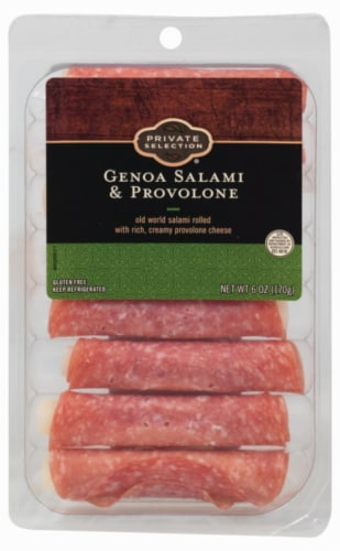 Private Selection® Genoa Salami & Provolone Rolls Perspective: front