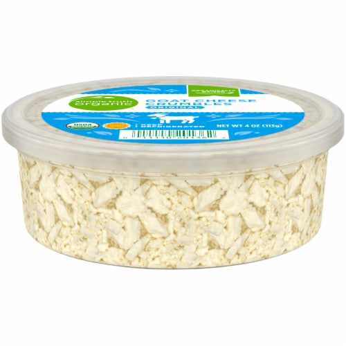 Simple Truth Organic™ Original Goat Cheese Crumbles Perspective: front