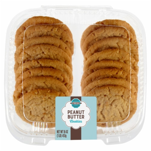 King Soopers Peanut Butter Cookies 16 Count Perspective: front
