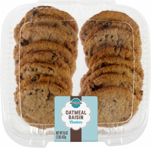 King Soopers Oatmeal Raisin Cookies Perspective: front