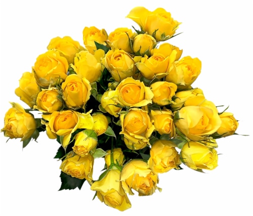 BLOOM HAUS™ Delight Rose Boquet - Yellow Perspective: front