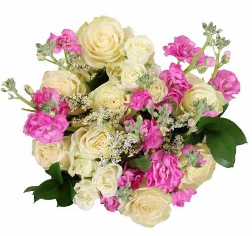 BLOOM HAUS™ Enchanted White Rose Boquet Perspective: front