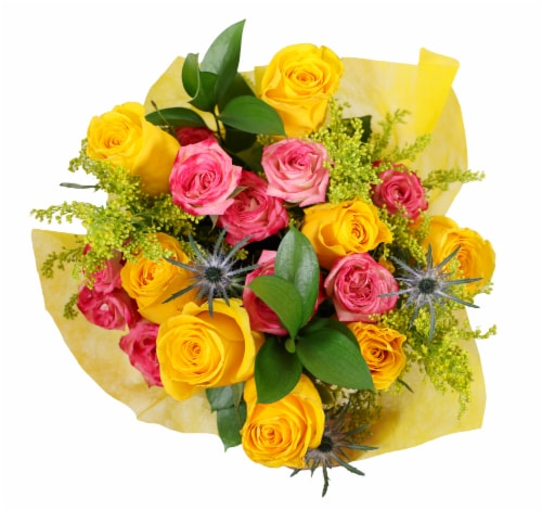 BLOOM HAUS™ Enchanted Yellow Rose Boquet Perspective: front
