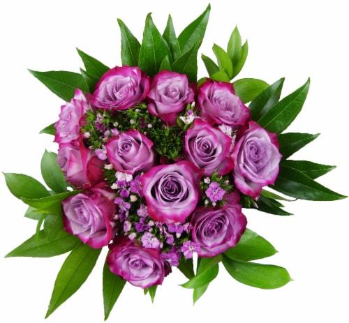 BLOOM HAUS Elegant Lavender Rose Boquet Perspective: front