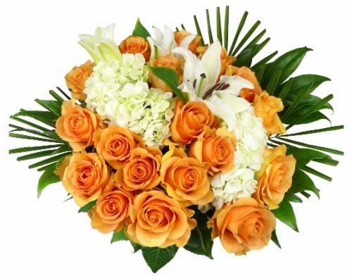BLOOM HAUS Noble Orange Rose Boquet Perspective: front