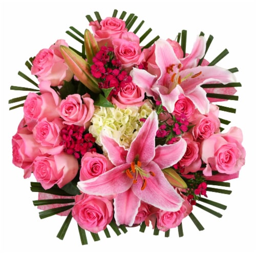 BLOOM HAUS Noble Pink Rose Bouquet Perspective: front