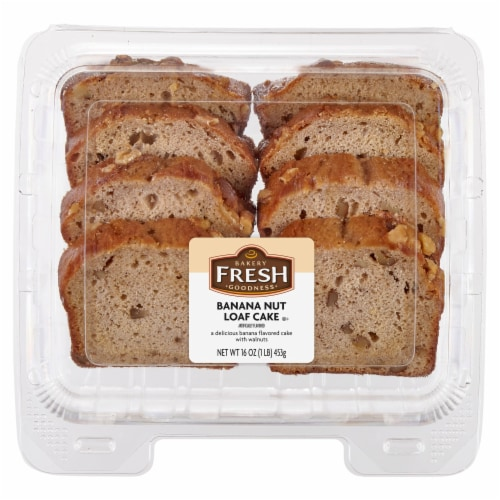 Bakery Fresh Goodness Sliced Banana Nut Loaf Cake Perspective: front