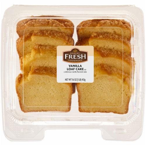 Bakery Fresh Goodness Sliced Vanilla Loaf Cake Perspective: front