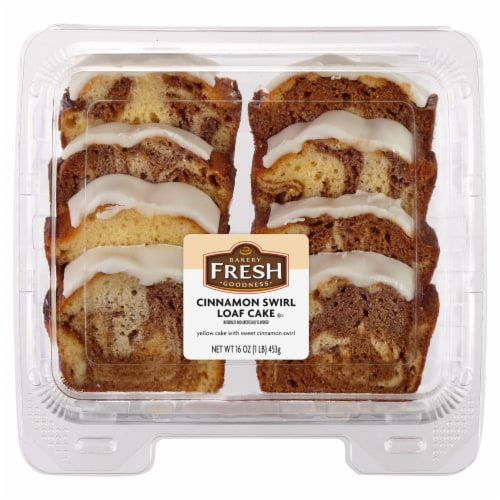 Bakery Fresh Goodness Sliced Cinnamon Loaf Cake Perspective: front