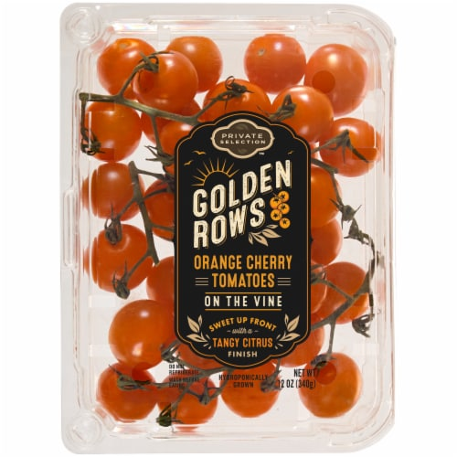 Private Selection™ Golden Rows Orange Cherry Tomatoes on the Vine Perspective: front