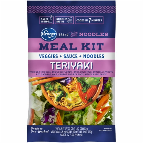 Kroger Teriyaki Meal Kit With Noodles Perspective: front