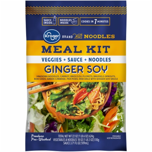 Kroger Ginger Soy With Noodles Meal Kit Perspective: front