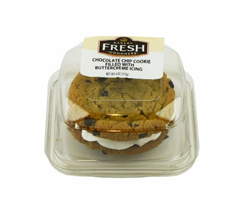 Bakery Fresh Goodness Chocolate Chip Cookie with Buttercreme Icing Perspective: front