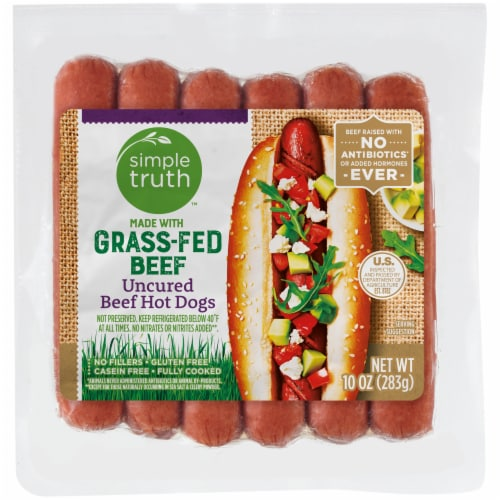 Simple Truth™ Grass-Fed Uncured Beef Hot Dogs Perspective: front