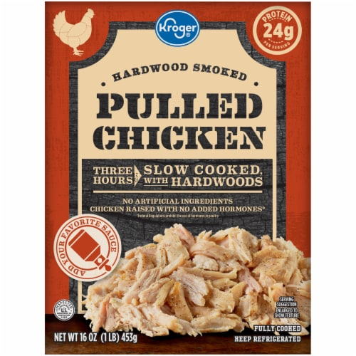 Kroger® Hardwood Smoked Pulled Chicken Perspective: front
