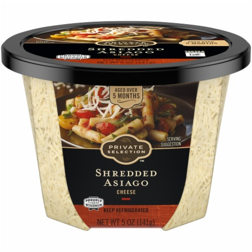 Private Selection™ Shredded Asiago Cheese Cup Perspective: front