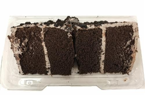 Bakery Fresh Cookies N Creme Cake Slice Perspective: front