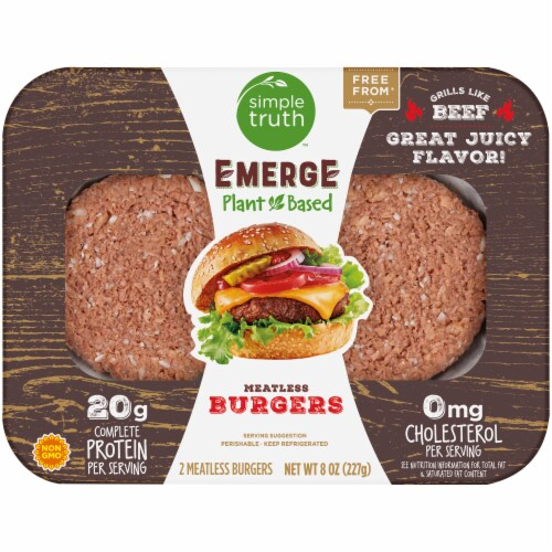 Simple Truth™ Emerge Plant Based Meatless Burgers Perspective: front
