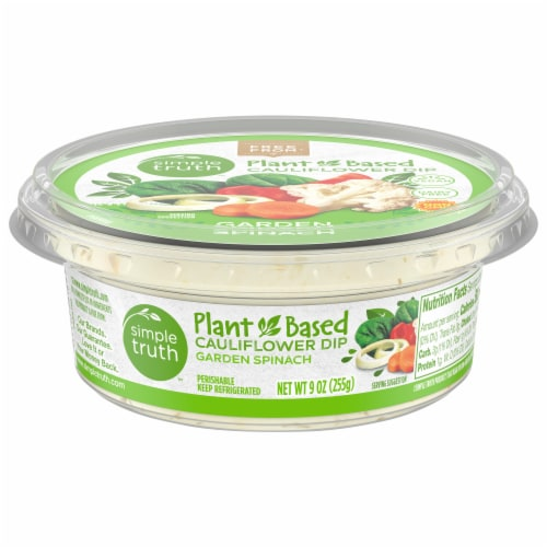 Simple Truth Garden Spinach Plant Based Dip Perspective: front