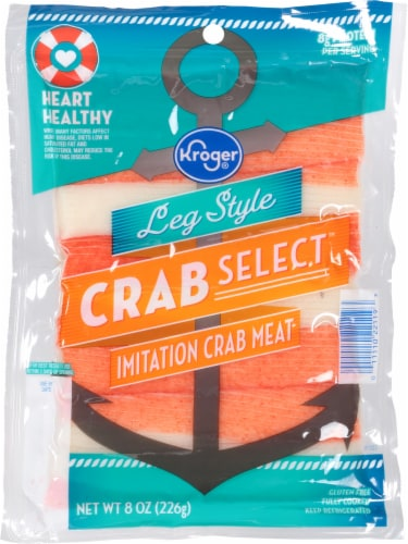 Kroger® Leg Style Crab Select Imitation Crab Meat Perspective: front