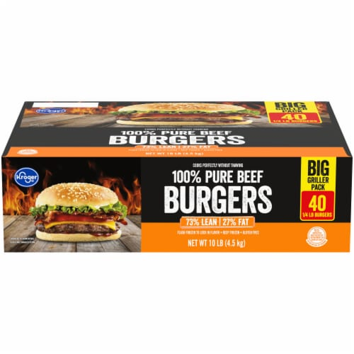 Kroger® 73% Lean Beef Burger Patties Big Deal Pack Perspective: front