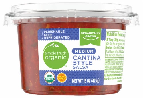 Simple Truth Organic® Medium Cantina Style Salsa Perspective: front