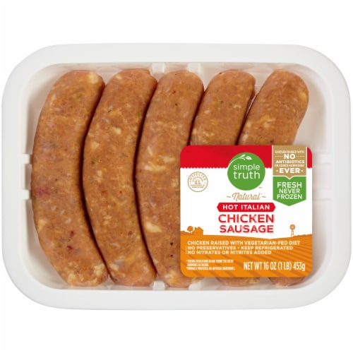 Simple Truth™ Hot Italian Chicken Sausage Perspective: front