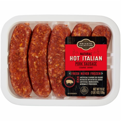 Private Selection™ Hot Italian Pork Sausage Perspective: front