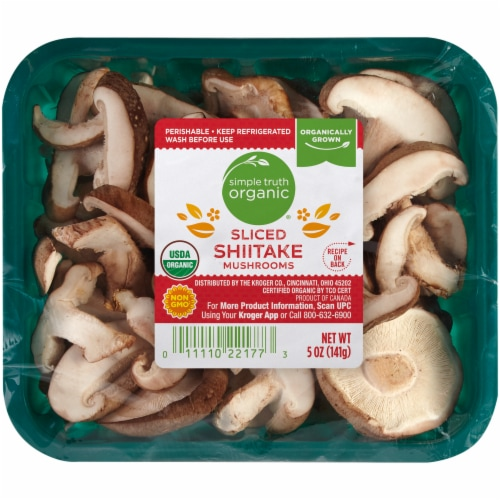Simple Truth Organic® Sliced Shiitake Mushrooms Perspective: front