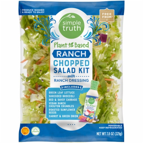 Simple Truth™ Plant Based Ranch Chopped Salad Kit with Ranch Dressing Perspective: front