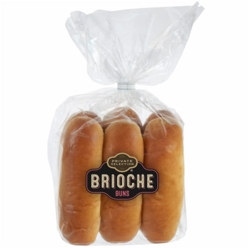 Private Selection Brioche Hot Dog Buns Perspective: front