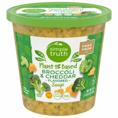 Simple Truth Vegan Broccoli & Cheddar Soup Perspective: front