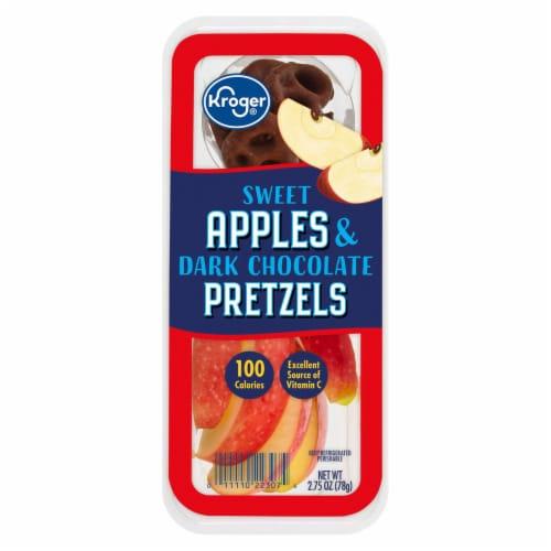 Kroger® Sweet Apples & Dark Chocolate Pretzels Snack Tray Perspective: front