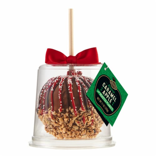 Private Selection™ Dipped Caramel Apple with Roasted Peanuts Perspective: front