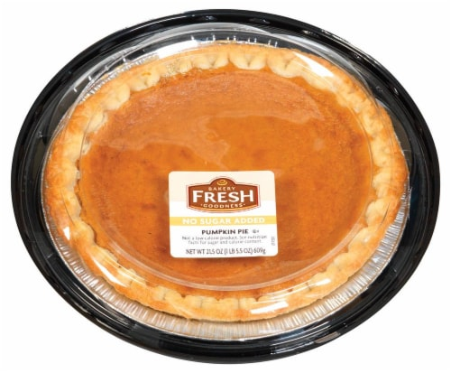 Bakery Fresh Goodness No Sugar Added Pumpkin Pie Perspective: front