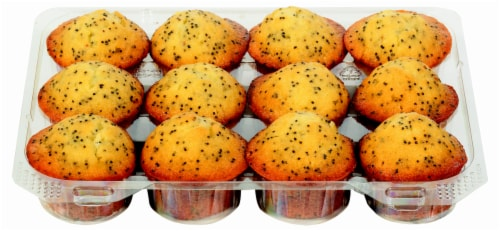 Bakery Fresh Goodness Mini Almond Poppy Muffins Perspective: front